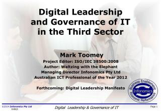 Digital Leadership and Governance  of  IT in the Third Sector