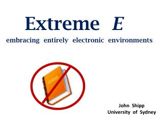 Extreme   E embracing   entirely  electronic  environments
