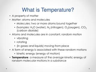 What is Temperature?