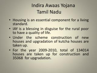 Indira Awaas Yojana  Tamil Nadu