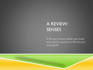 A Review: Senses