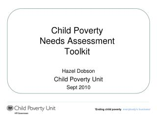 Child Poverty Needs Assessment Toolkit