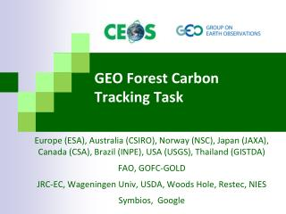 GEO Forest Carbon Tracking Task