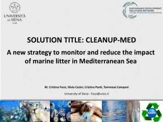 SOLUTION TITLE: CLEANUP-MED A new strategy to monitor and reduce the impact