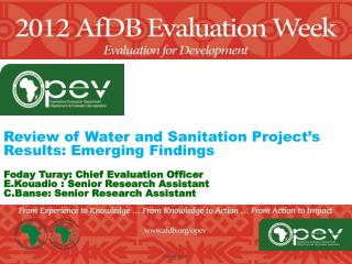 Review of Water  and Sanitation Project's Results:  Emerging  Findings