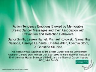 Action Tendency Emotions Evoked by Memorable Breast Cancer Messages and their Association with Prevention and Detection
