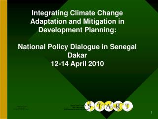 Integrating Climate Change Adaptation and Mitigation in Development Planning: