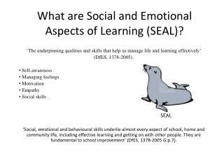 What are Social and Emotional Aspects of Learning (SEAL)?