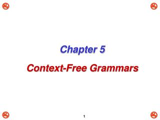 Chapter 5 Context-Free Grammars