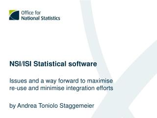 NSI/ISI Statistical software