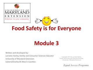 Food Safety is for Everyone  Module 3