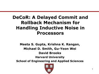 DeCoR: A Delayed Commit and Rollback Mechanism for Handling Inductive Noise in Processors