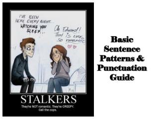 Basic Sentence Patterns & Punctuation Guide