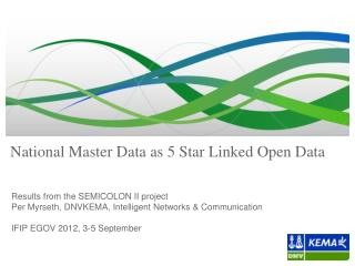 National Master Data as 5 Star Linked Open Data