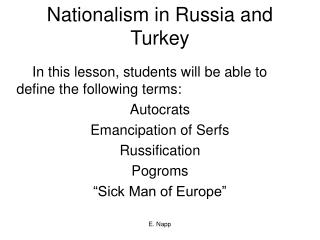 Nationalism in Russia and Turkey