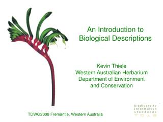 An Introduction to Biological Descriptions