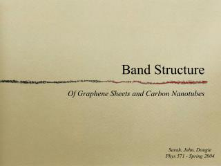 Band Structure