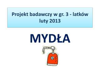 Projekt badawczy w gr. 3 - latków luty 2013