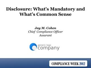 Jay M. Cohen Chief  Compliance Officer Assurant