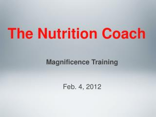The Nutrition Coach