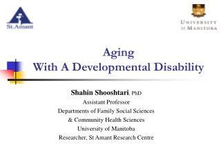 Aging  With A Developmental Disability
