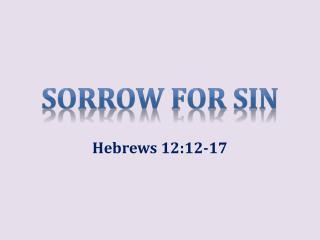 Sorrow for Sin