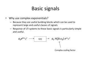 Basic signals
