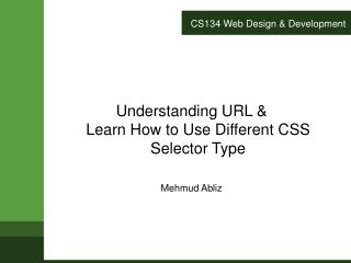CS134 Web Design & Development