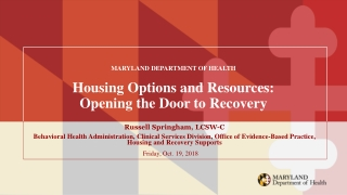 Opening the Doors for Those in Need: Participant Eligibility and Documentation in the HUD Supportive Housing Program and