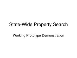 State-Wide Property Search