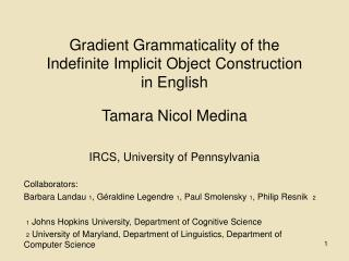 Gradient Grammaticality of the Indefinite Implicit Object Construction in English