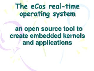 Layering of eCos system packages