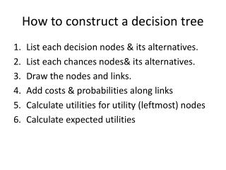 How to construct a decision tree
