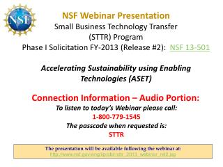 The presentation will be available following the  webinar at: