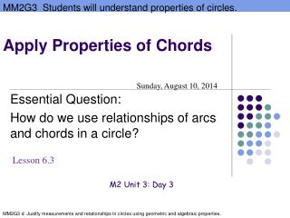 Apply Properties of Chords