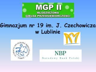 Gimnazjum nr 19 im. J. Czechowicza  w Lublinie