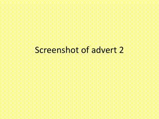 Screenshot of advert 2
