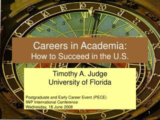 Careers in Academia: How to Succeed in the U.S.