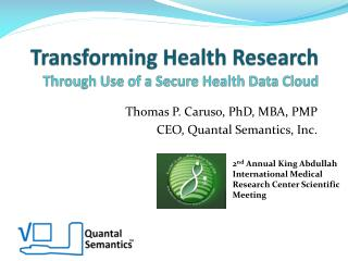 Transforming Health Research Through Use of a Secure Health Data Cloud