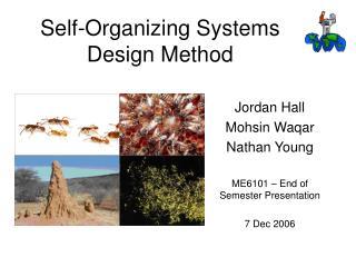 Self-Organizing Systems Design Method