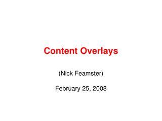Content Overlays