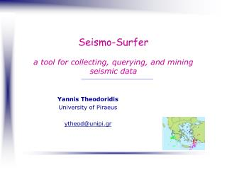 Seismo-Surfer a tool for collecting, querying, and mining seismic data