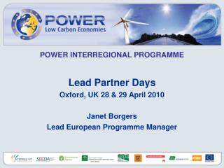 POWER INTERREGIONAL PROGRAMME