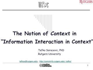 The Notion of  Context  in
