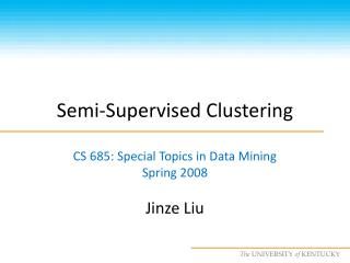 Semi-Supervised Clustering