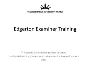 Edgerton Examiner Training