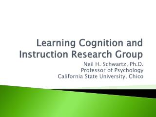 Learning Cognition and Instruction Research Group