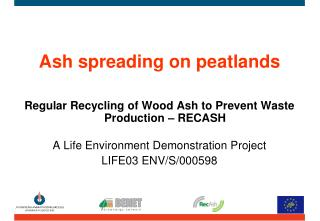 Ash spreading on peatlands