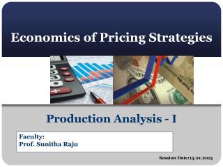 Economics of Pricing Strategies
