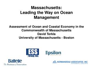 An Assessment of the Coastal and Marine Economies  of Massachusetts